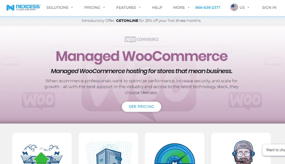 Managed WooCommerce Hosting Nexcess