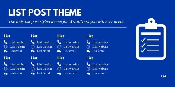 List post theme for WordPress