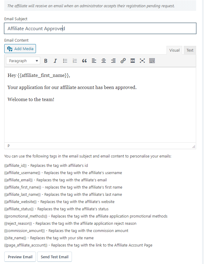 Email in SliceWP