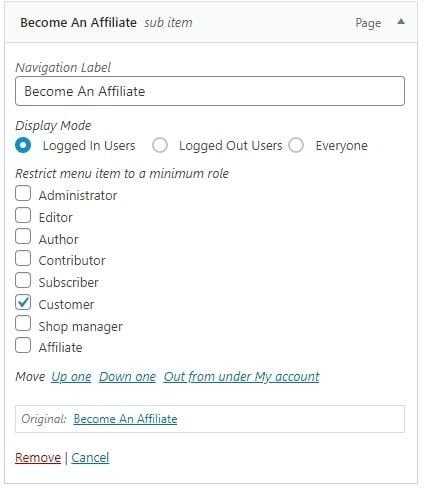 Become an affiliate screenshot