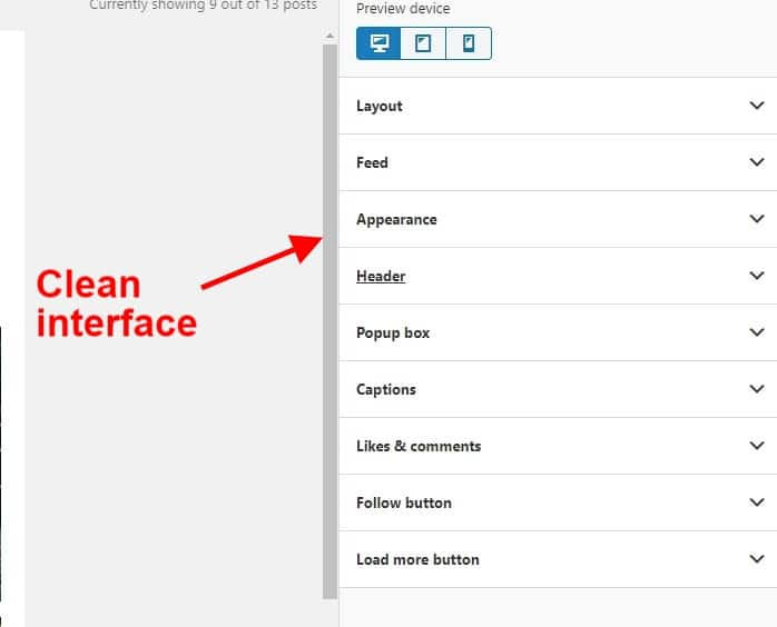 Appearance settings Spotlight Pro screenshot