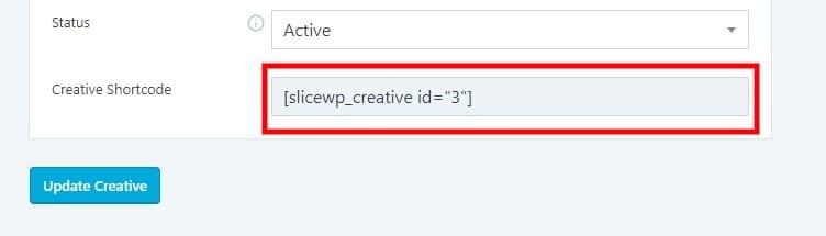 Creative shortcode