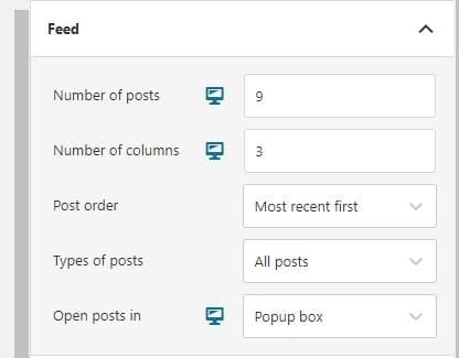 Feed settings Spotlight Pro screenshot