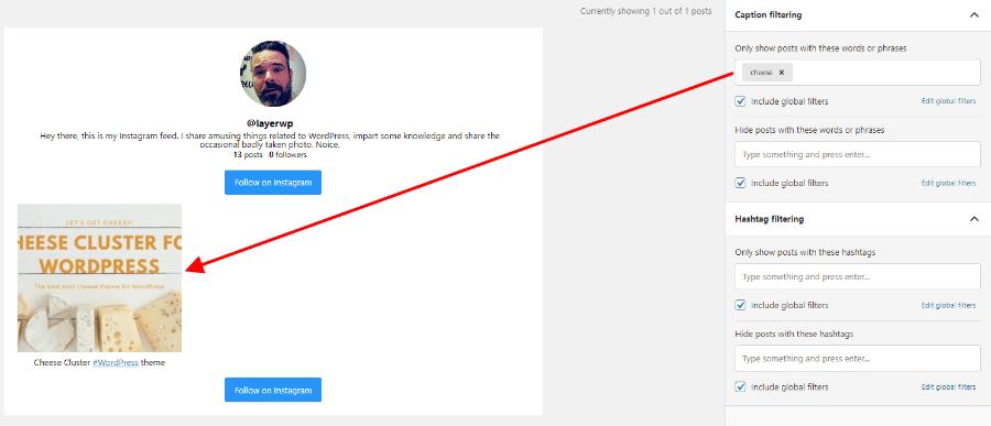 Filtering posts in Spotlight Pro screenshot