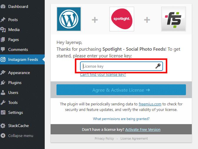 Activating license for Spotlight Pro screenshot