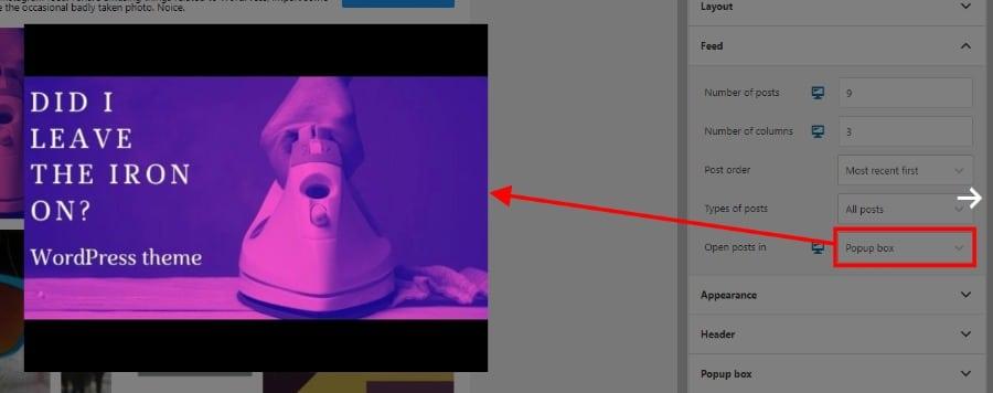Popup box in Spotlight Pro screenshot