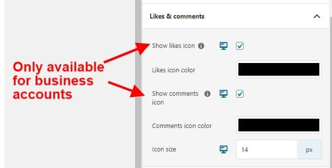 Business account settings in Spotlight Pro screenshot