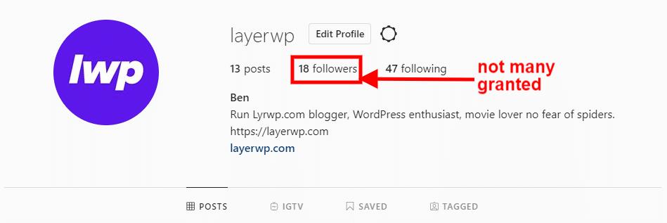 Follower settings in Spotlight Pro screenshot