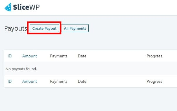 Create payouts