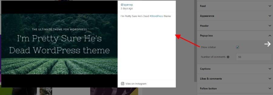 Popup box example Spotlight Pro screenshot