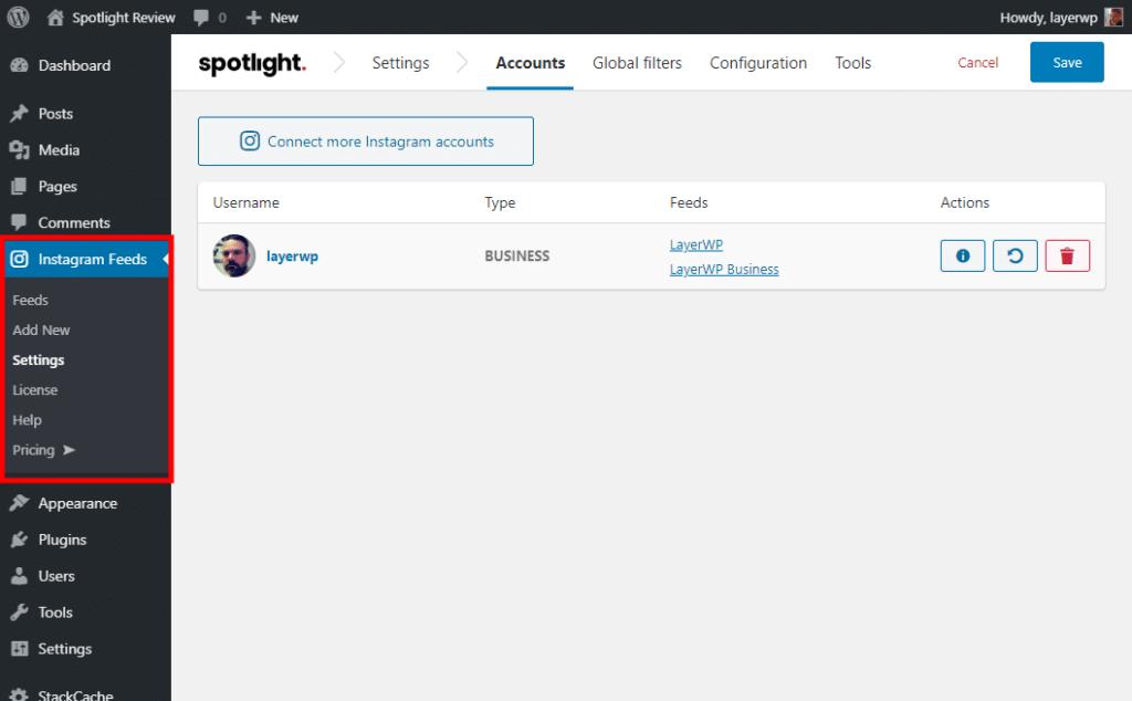 Spotlight Pro Settings Spotlight Pro screenshot