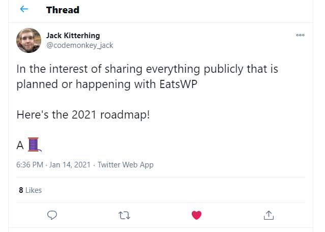 Roadmap twitter thread