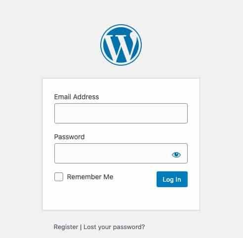 WordPress Default Login Screen