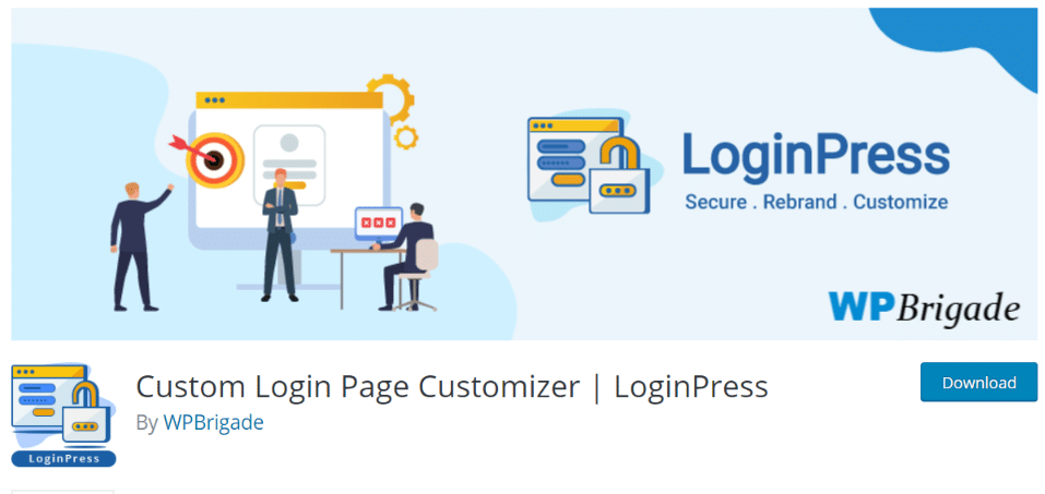 Custom Login Page Customizer available on WordPress.org
