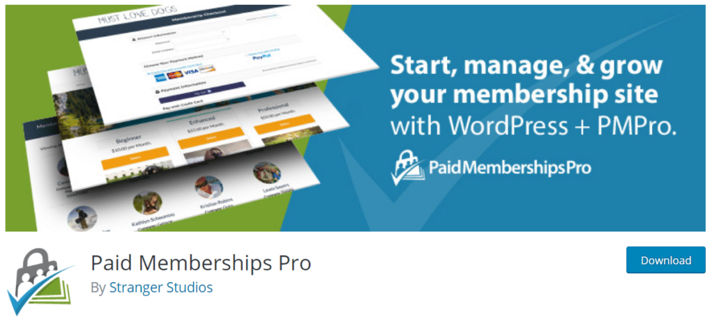 Paid Memberships Pro available on WordPress.org