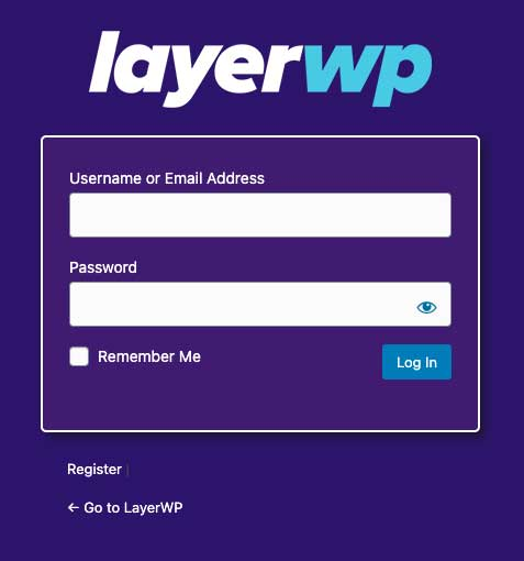 Custom Login - LayerWP