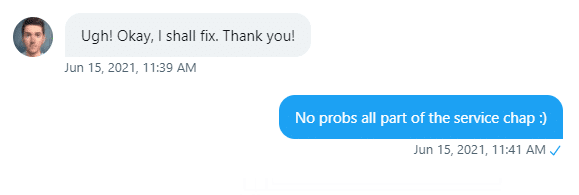Another Twitter DM!