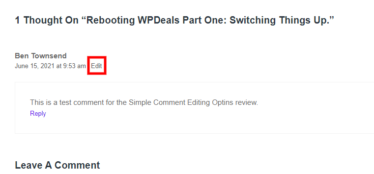 Note the edit button?